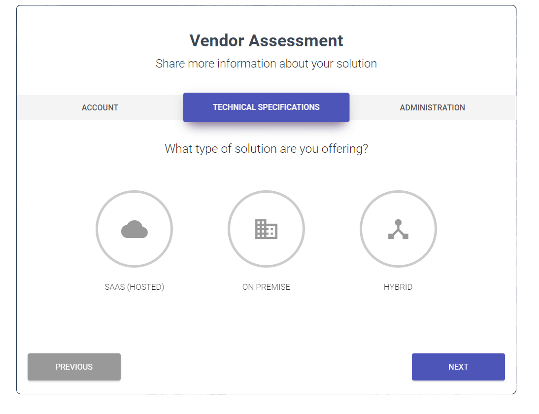 Simplify Vendor Assessment and Intake